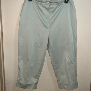LAUNDRY BY SHELLI SEGAL CAPRI PANTS SZ 12 LT. SAGE